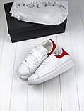 Женские кроссовки в стиле Alexander McQueen (white/red), женские белые кроссовки (Реплика ААА), фото 4