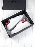 Женские кроссовки в стиле Alexander McQueen (white/red), женские белые кроссовки (Реплика ААА), фото 5