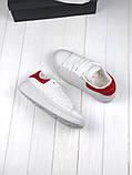 Женские кроссовки в стиле Alexander McQueen (white/red), женские белые кроссовки (Реплика ААА), фото 2