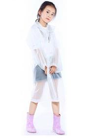Плащ  дождевик для детей и подростков. Рост 120- 140 см. Белый.