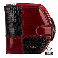 Компактный Женский Кошелек Кожаный Kafa с RFID защитой (AE1869)