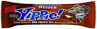 Протеиновый батончик WEIDER Yippie! 70 g Brownie-Vanilla