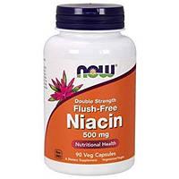 Активное долголетие NOW Flush Free Niacin 500 mg Double Strength (180 капс)