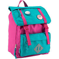 Рюкзак для нач. школы, спинка уплотнен., 7л, 330гр, со значками, Kite