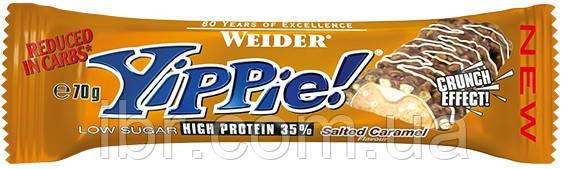 Протеиновый батончик WEIDER Yippie! 70 g Salted Caramel