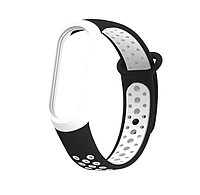 Браслет / Ремешок для Фитнес-трекер / Смарт часы Mi Band 3 / 4 Черный с белым