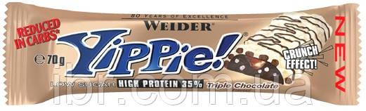 Протеиновый батончик WEIDER Yippie! 70 g Triple Chocolate