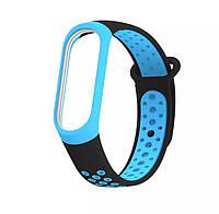 Браслет / Ремешок для Фитнес-трекер / Смарт часы Mi Band 3 / 4  Черный с синим