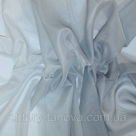 Тюль вуаль деграде, серый