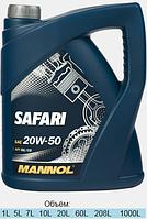 Минеральное моторное масло Mannol Safari 20W-50 SG/CD 5L