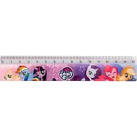 Линейка дет. пласт., прозрачная с рисунком, Kite Little Pony, 15см