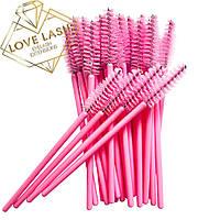 Щеточки для ресниц нейлоновые Н-Розовый В-Розовый