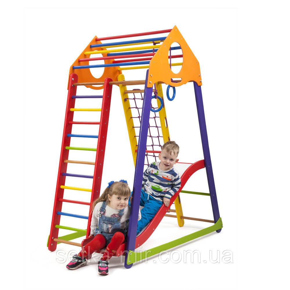 Детский спортивный комплекс SportBaby BambinoWood Color Plus 1