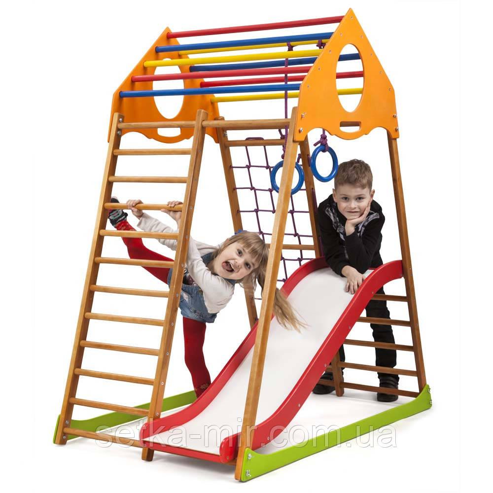 Детский спортивный комплекс для дома  «KindWood Plus 1»