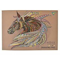 Альбом для рисования, А4, 40 л., склейка, 100г/м2, YES, Ethnic horse