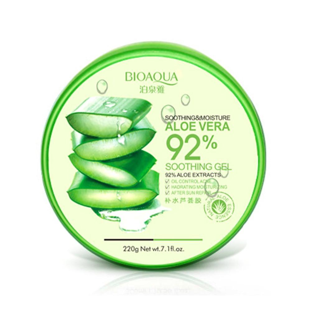 Гель алоэ вера для лица и тела Bioaqua Aloe Vera 92% Soothing Gel, 220г
