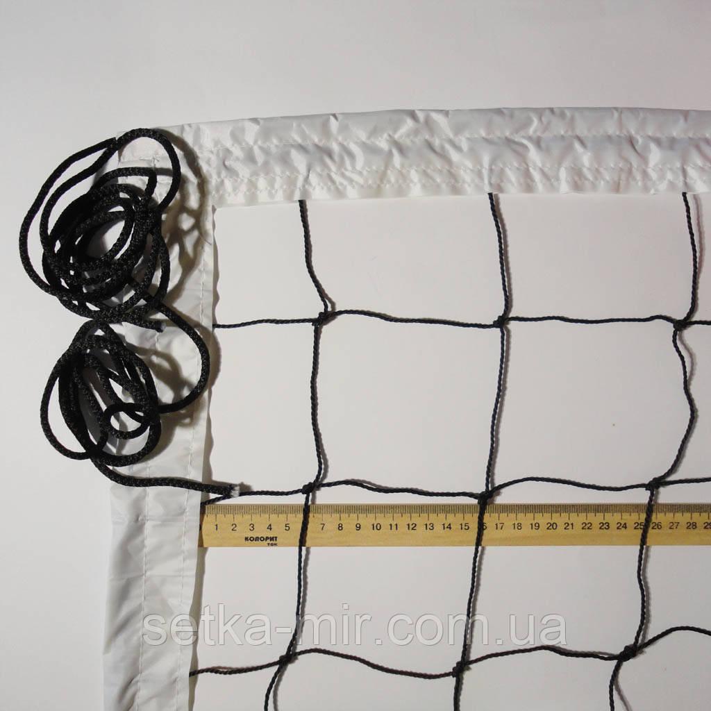 Сетка волейбольная «ЭКОНОМ 10 НОРМА» черно-белая