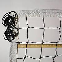 Сетка волейбольная «ЭКОНОМ 10 НОРМА» черно-белая, фото 1