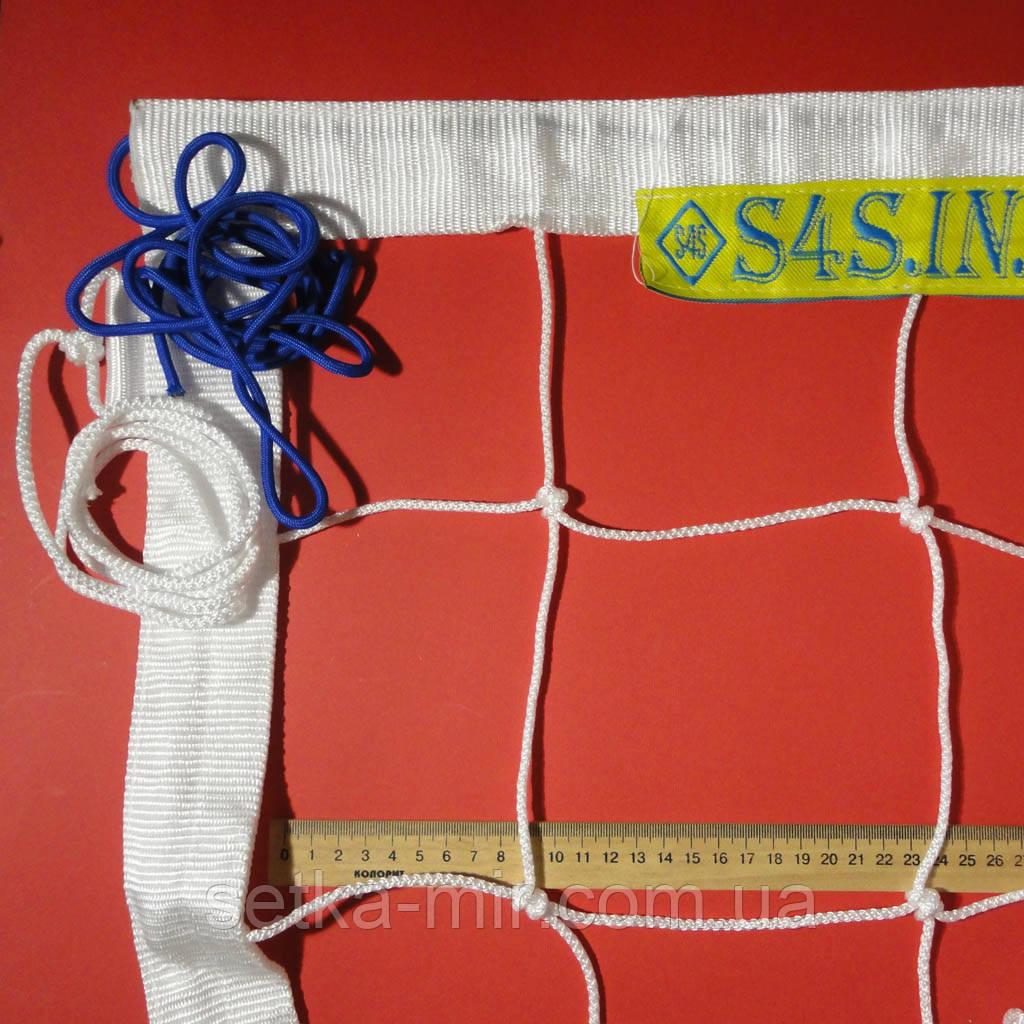 Сетка волейбольная «ЭЛИТ 15 НОРМА» с паракордом белая
