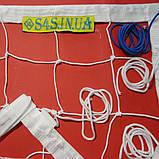 Сетка волейбольная «ЭЛИТ 15 НОРМА» с паракордом белая, фото 4