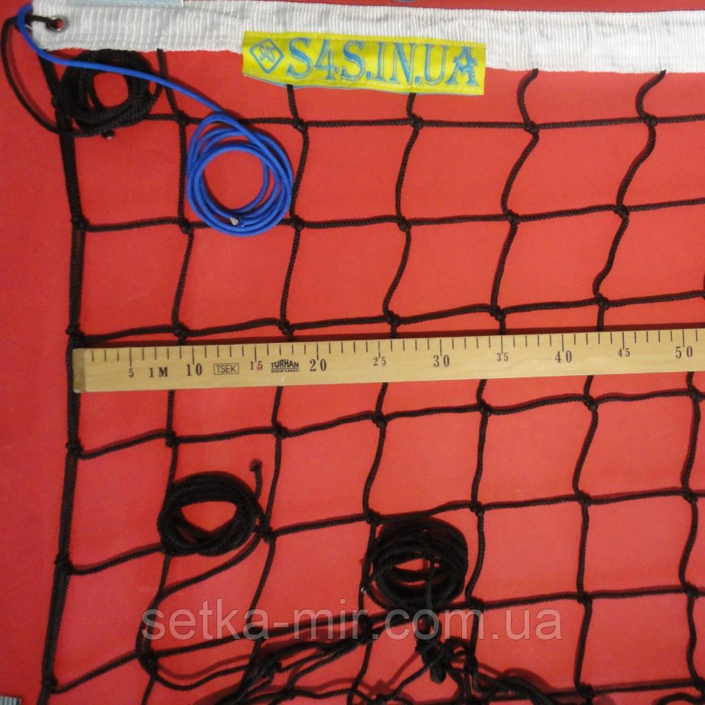 Сетка волейбольная «ЭЛИТ 10» черно-белая