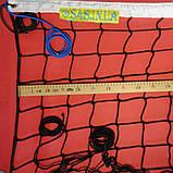 Сетка волейбольная «ЭЛИТ 10» с паракордом черно-белая, фото 4