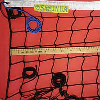 Сетка волейбольная «ЭЛИТ 10» черно-белая, фото 1