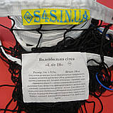 Сетка волейбольная «ЭЛИТ 10» с паракордом черно-белая, фото 2