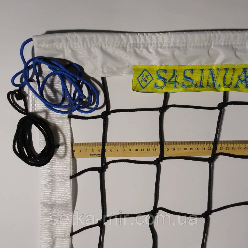 Сетка волейбольная «ЭЛИТ 10 НОРМА» черно-белая