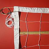 Сітка для волейболу «ПРЕМІУМ 12 НОРМА» з тросом біла, фото 5