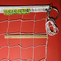 Сетка волейбольная «Премиум 10» с тросом белая, фото 1