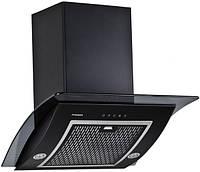 Вытяжка кухонная наклонная PYRAMIDA RA 600 BLACK/S