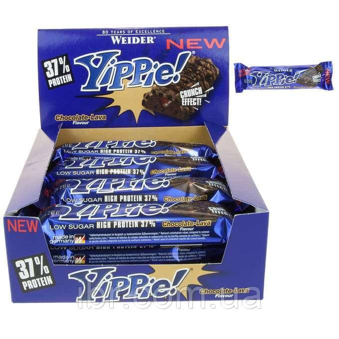 Протеиновый батончик WEIDER Yippie! 70 g Chocolate-Lava 12 шт