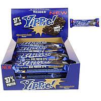 Протеиновый батончик WEIDER Yippie! 70 g Chocolate-Lava 12 шт, фото 1