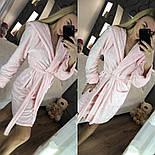 Женский модный теплый халат с поясом, фото 3