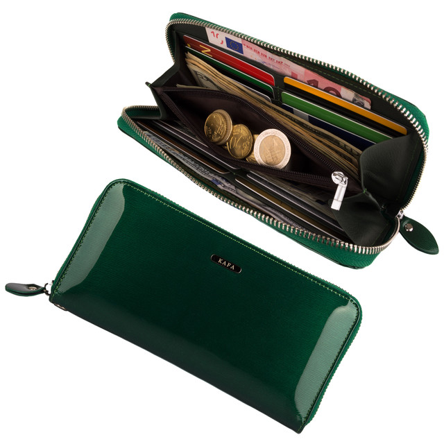 женский зеленый кошелек