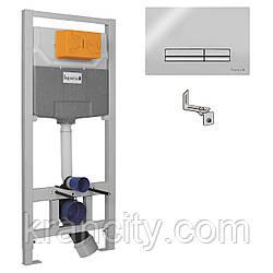 Комплект инсталляции для подвесного унитаза 3в1  IMPRESE (клавиша PANI хром)