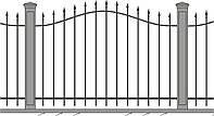 Кованный забор\ограждение, модель СГ-00