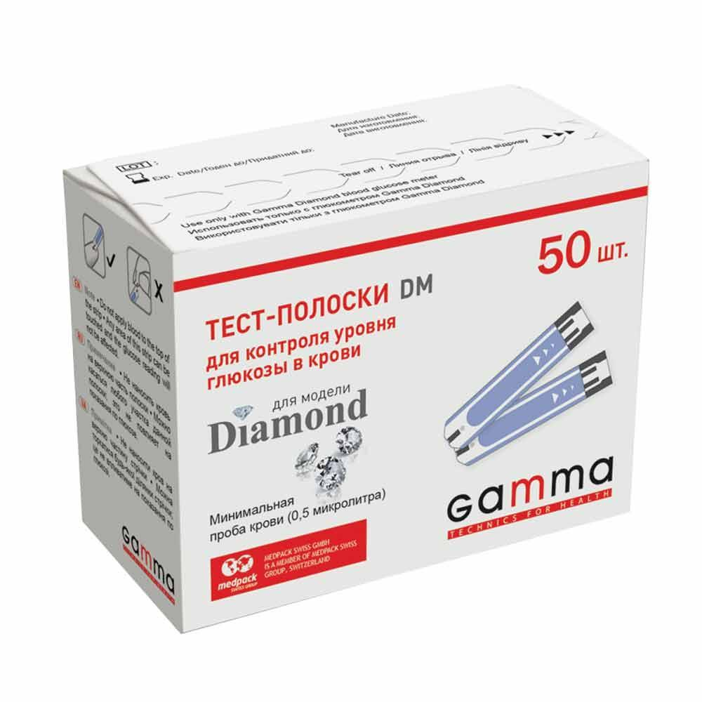 Тест-полоски GAMMA DM 50 штук
