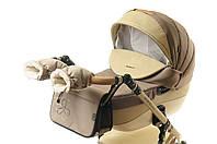 Комплект сумка и рукавички на коляску Ok Style Цветок (Капучино светлый), фото 1
