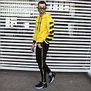 Спортивный костюм мужской черный с желтым,  модель Off White, фото 2