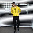 Спортивный костюм мужской черный с желтым,  модель Off White, фото 5