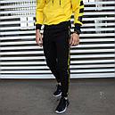 Спортивный костюм мужской черный с желтым,  модель Off White, фото 6