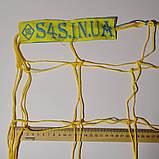 Сітка для футзалу, гандболу «ЕКОНОМ 1.1» жовто-синя (комплект з 2 шт.), фото 4