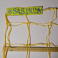 Сетка для футзала, гандбола «ЭКОНОМ 1.1» желто-синяя (комплект из 2 шт.), фото 1