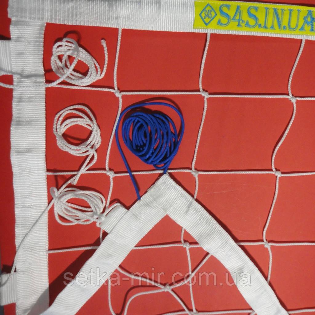 Сетка для волейбола «ЭЛИТ 15 НОРМА» с тросом белая