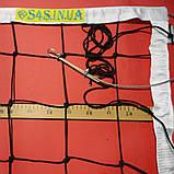Сітка для волейболу «ЕЛІТ 15 НОРМА» з тросом чорно-біла, фото 2