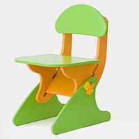Стул детский регулируемый по высоте SportBaby Зелено-оранжевый