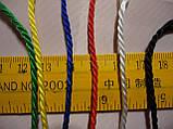 "Сетка для переноски мячей ""ЭКОНОМ"", на 5 мячей, шнур Д - 2,5 мм желто-синяя, фото 2"