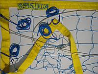 Сетка для пляжного волейбола «ТРАНЗИТ» с тросом сине-желтая